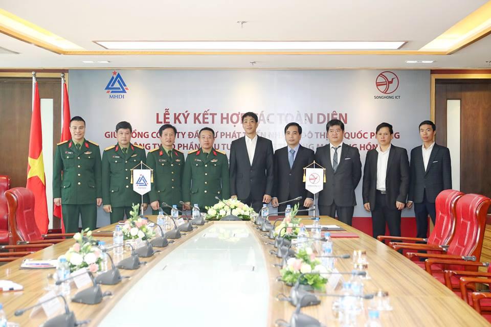 Lễ ký kết hợp tác toàn diện giữa MHDI và Sông Hồng ICT